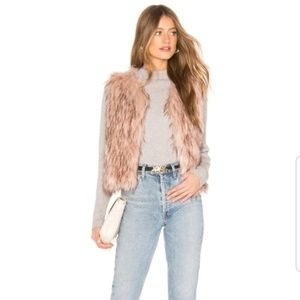 NWT BB Dakota barbarella faux fur vest small